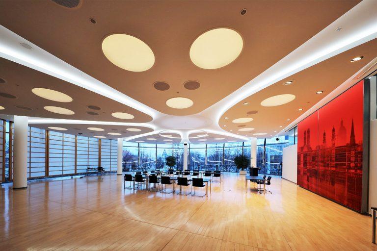 LED Deckenleuchten in der Deutschen Bundesbank München