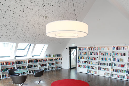LED CIRCLE Pendelleuchte Ringleuchte Bibliothek Vohburg