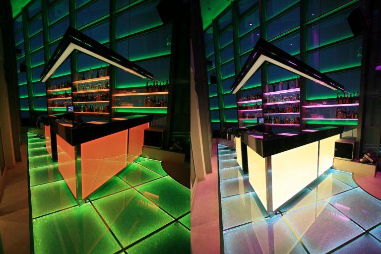 LED Floor Glasboden Multicolor RGB Discoboden DMX Lichtsystem