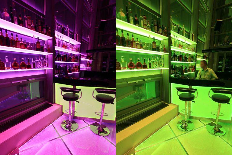 LED Shelf Lichtregal Multicolor RGB DMX Glasregal Lichtsystem