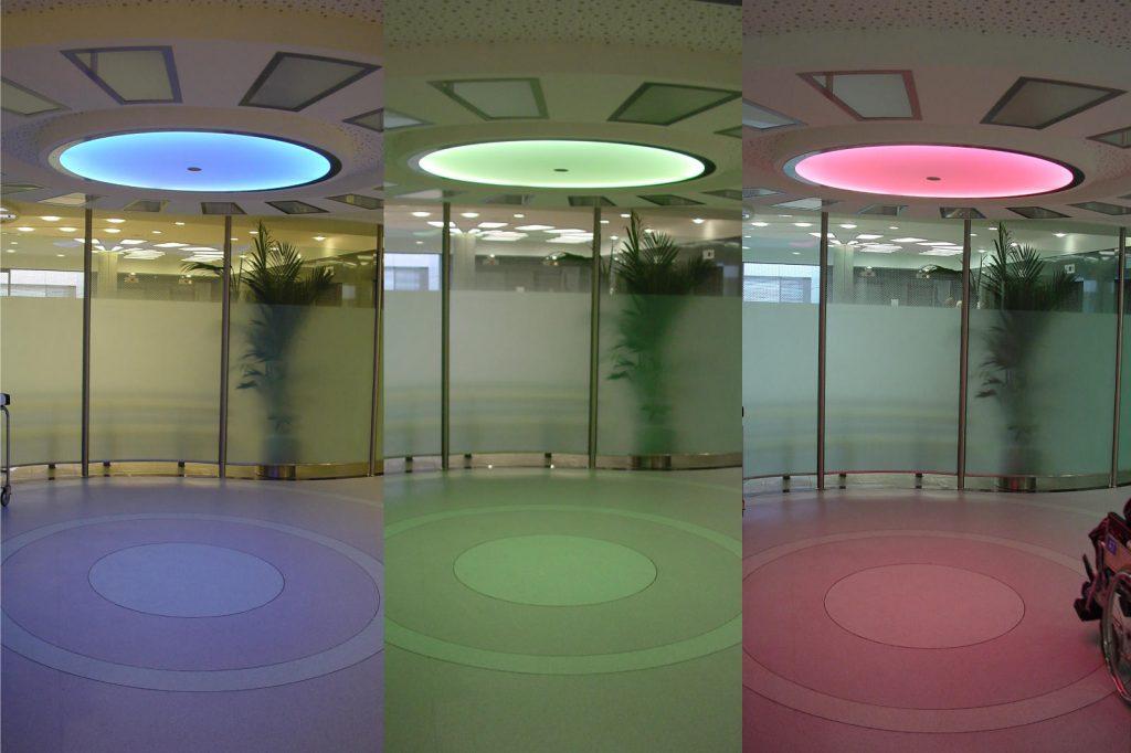 LED Round&Round multicolor Deckenleuchten - Klinikum Holweide 09