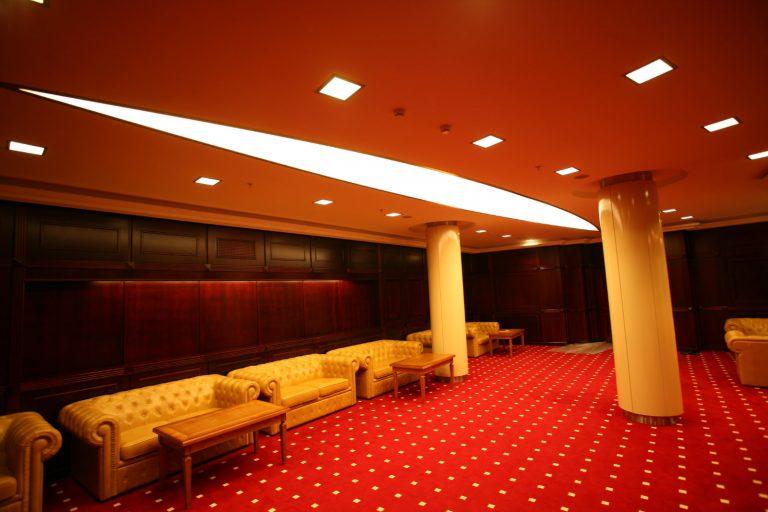 Lichtdecke in Sonderform in der Staatsbibliothek Minsk