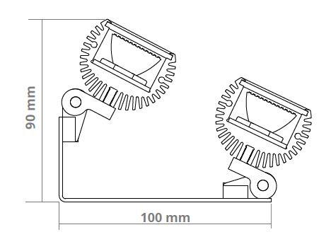 Skize Seitenansicht LED CONTOUR Linearstrahler mit Tunable White LED-Technik